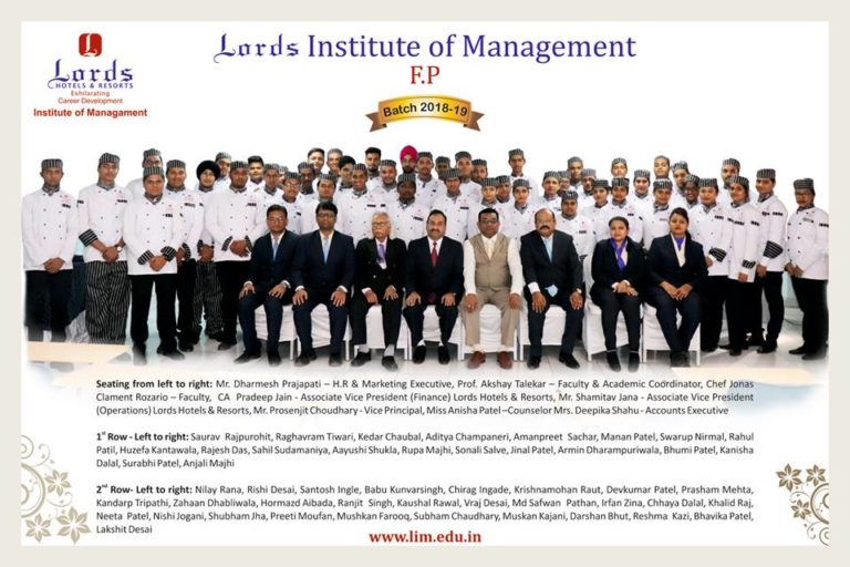 Hotel and Hospitality Management Institute in Bilimora & Chikali- Lords Institute of Management