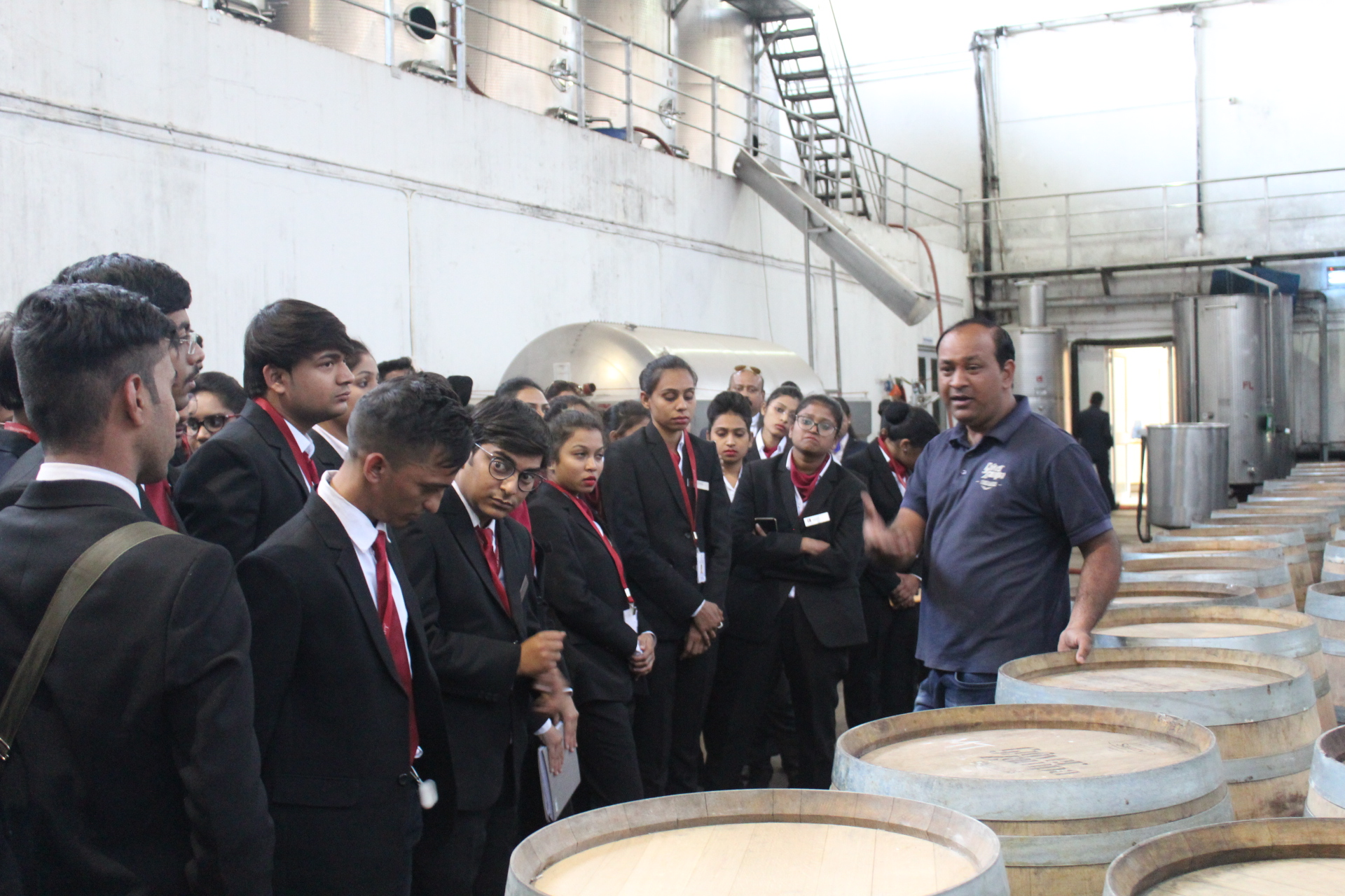 Industrial Visit in Zampa Wine Information Centre