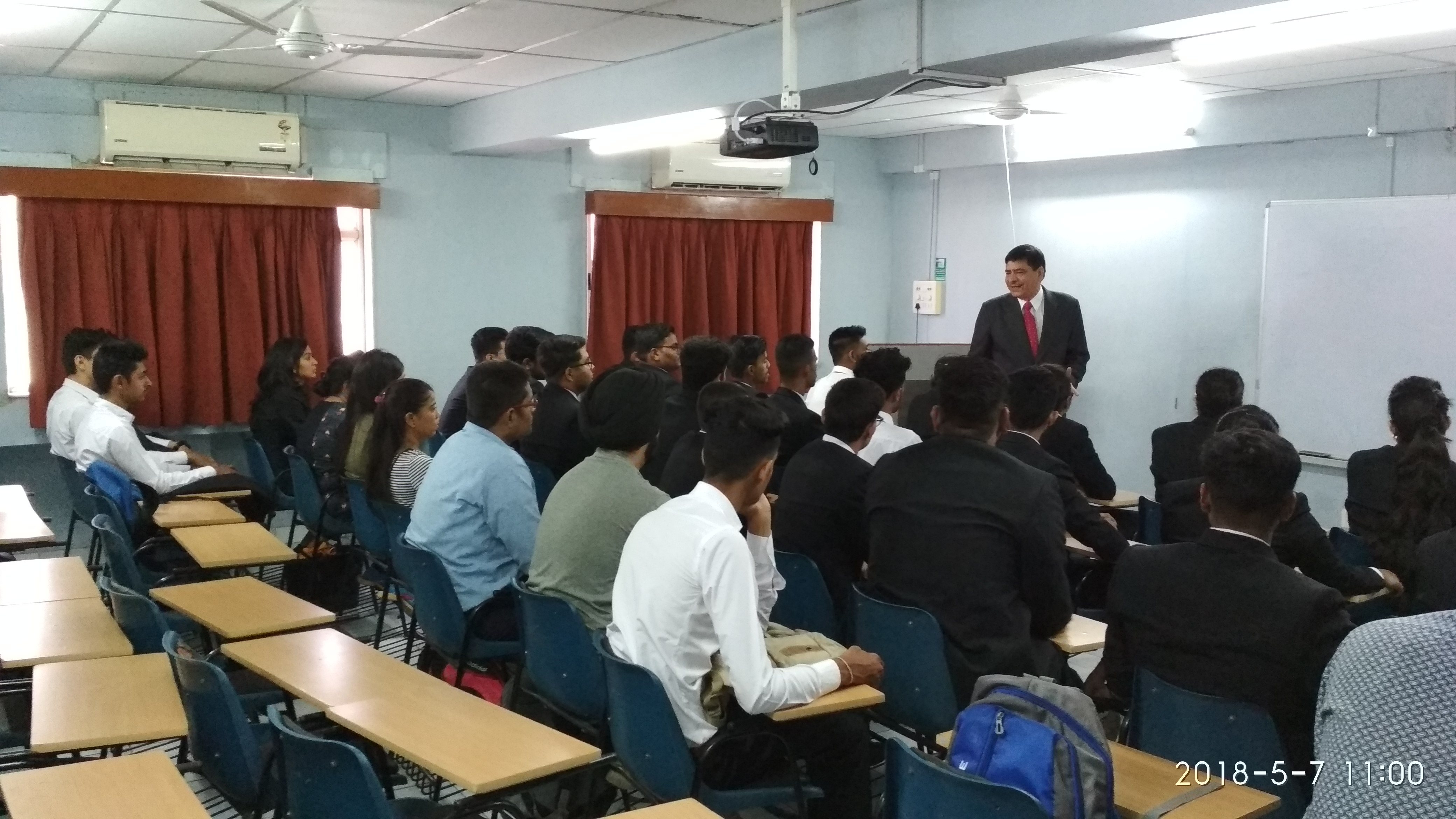 Guest lecture on Career development by Mr. P. K. Vaid GM of Lion Lords Inn, Rajula