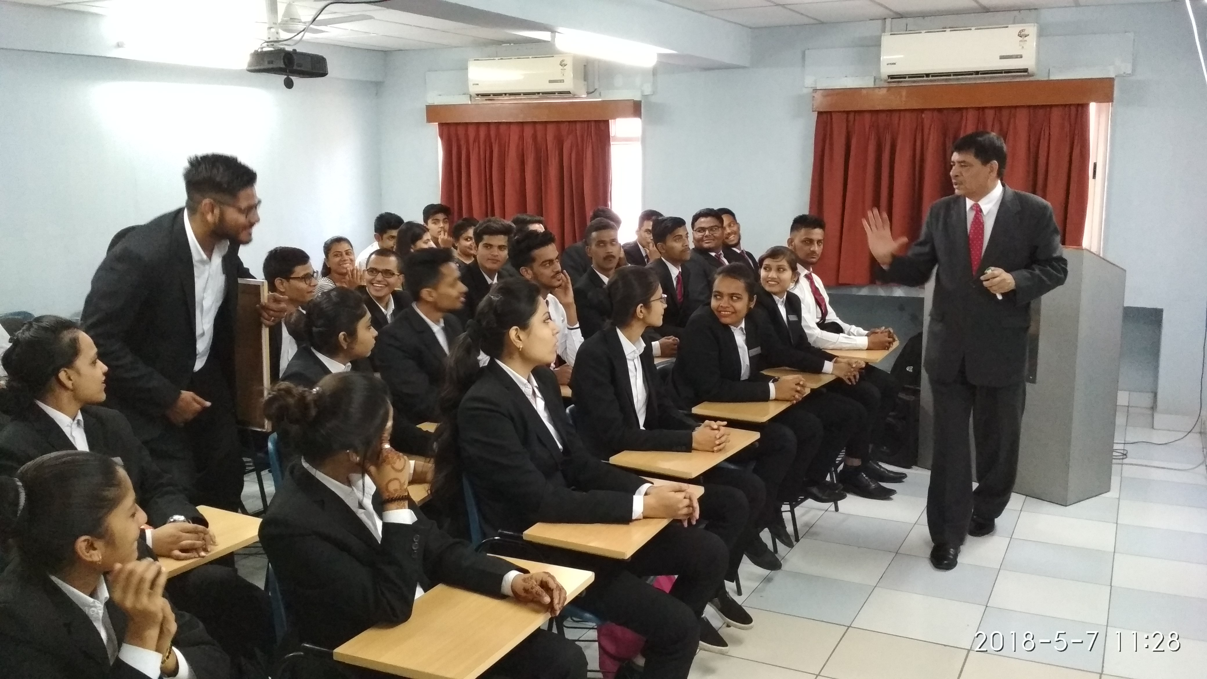 Guest lecture on how to become a good leader by Mr. Michael Ceat